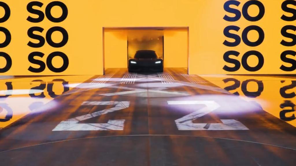 Bil i en monter på ett expo