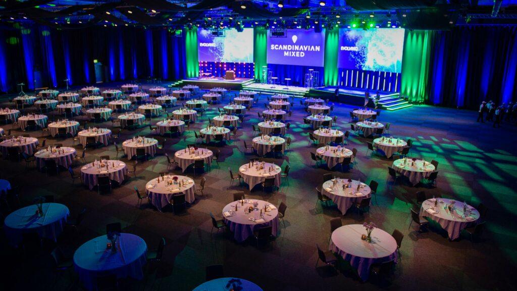 Scandinavian Mixed middagsdukning i Hybrid Event Arena.