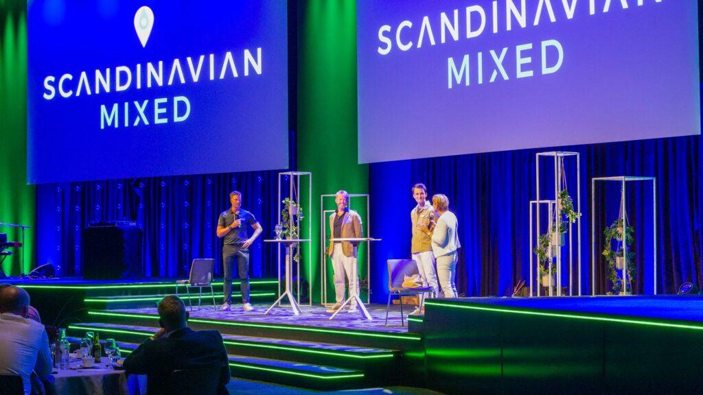 Scandinavian Mixeds event i Hybrid Event Arena i Göteborg. Här med Annika Sörenstam och Henrik Stenson på scen.
