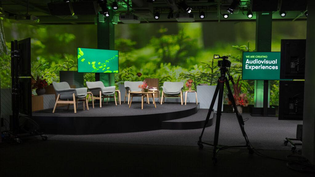 Hybridstudio med teknik för livestreaming