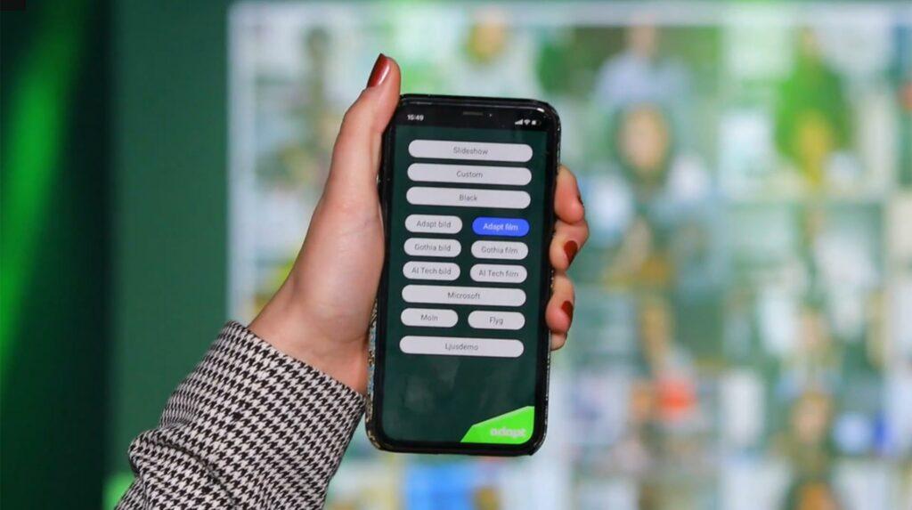 Ljud, ljus och bildteknik kan styras från mobiltelefon
